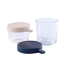 Béaba - Opbevaringsglas - 2 stk - Pink/Blå