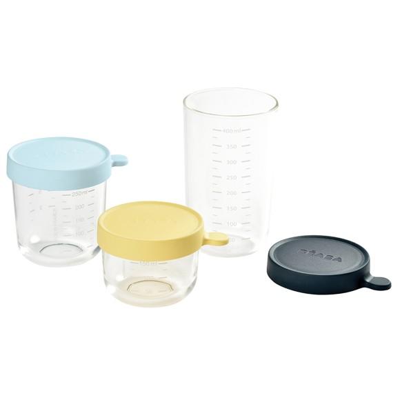 Béaba - Opbevaringsglas - 3 stk - Blå