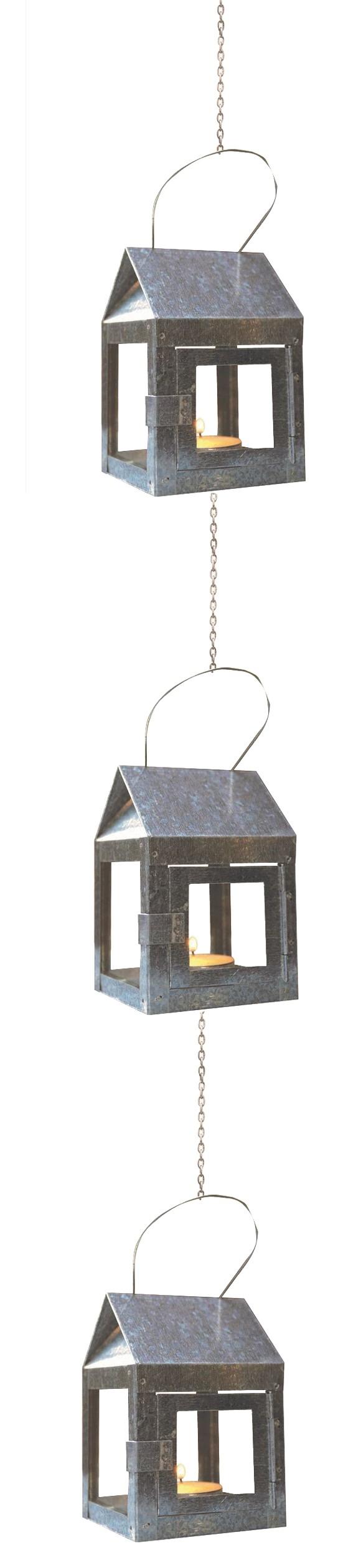 A2 Living - 3 x Hænge Lanterne Med Wire - Stål