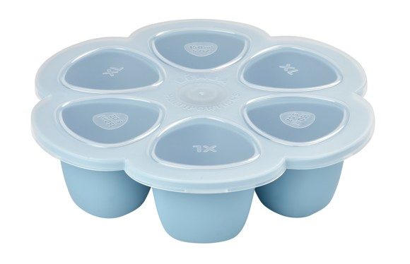 Béaba - Silicone Multiportions 6*150 ml - Lys Blå