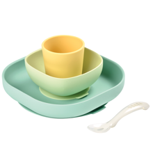 Béaba - Silicone Meal Set 4 Pcs - Yellow