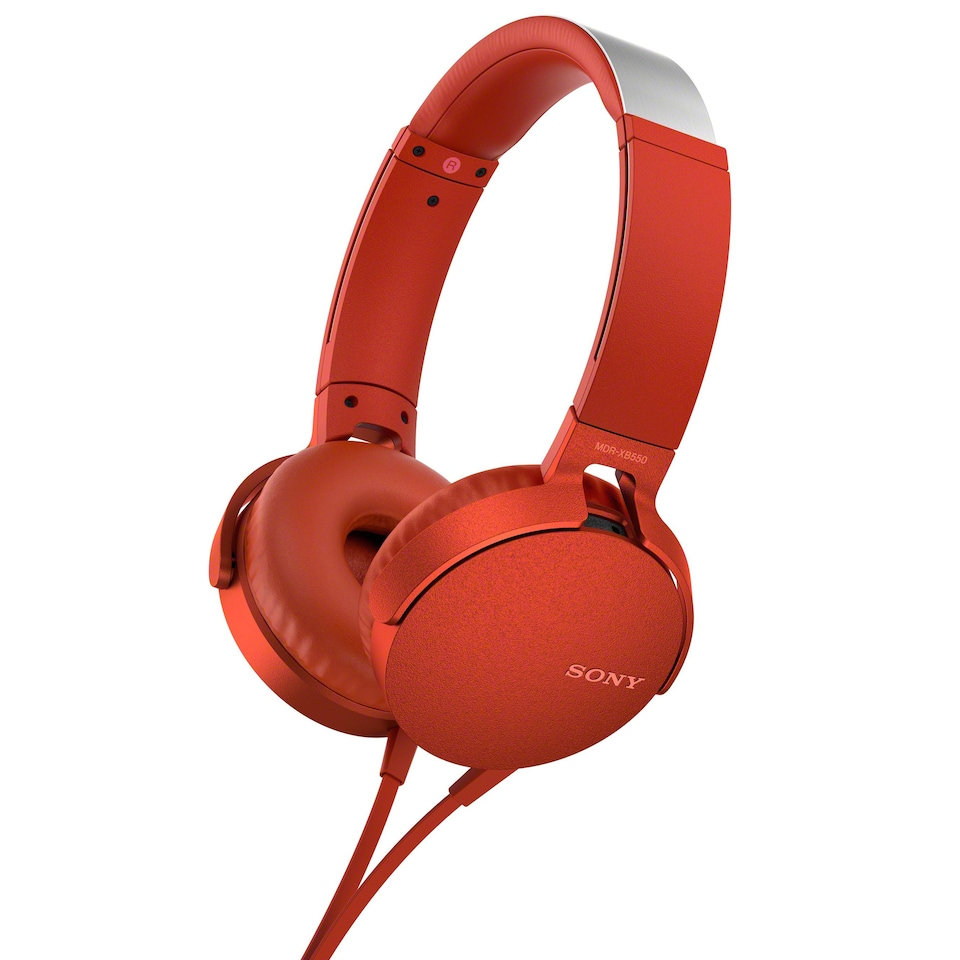 Sony - XB550AP Extra Bass - On-Ear Headphones - Red