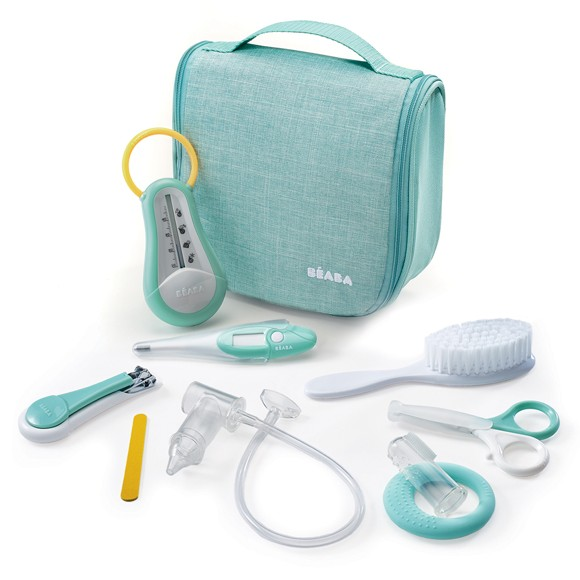 Béaba - Hanging Toiletry Pouch w. 9 Accessories - Mint