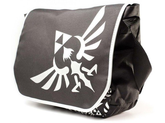 "Zelda - Messenger Bag Silver Logo 15"" laptop"