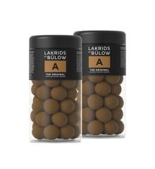 Lakrids By Bülow - 2 x Regular  A - The Orginal Chokolade Overtrukket Lakrids 295 g
