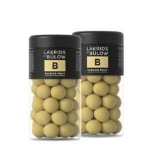 Lakrids By Bülow - 2 x Regular B - Passionsfrugt Chokolade Overtrukket Lakrids 295 g