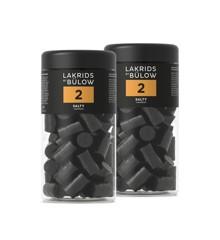 Lakrids By Bülow - 2 x Regular NO.2 Salty Lakrids 360 g