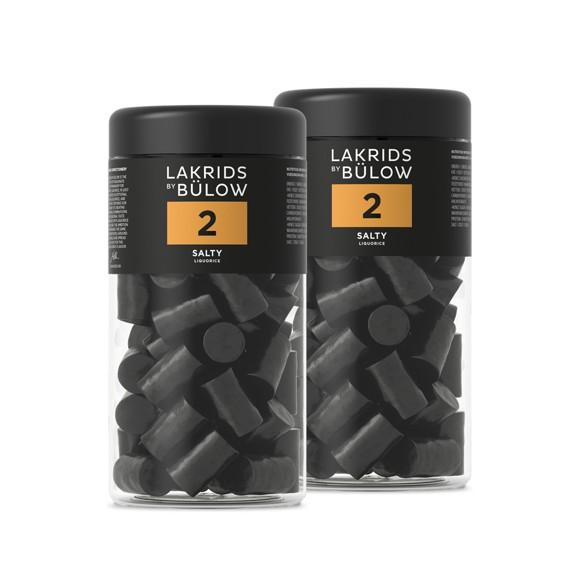 Lakrids By Bülow - 2 x Regular NO.2 Salty Liquorice 360 g