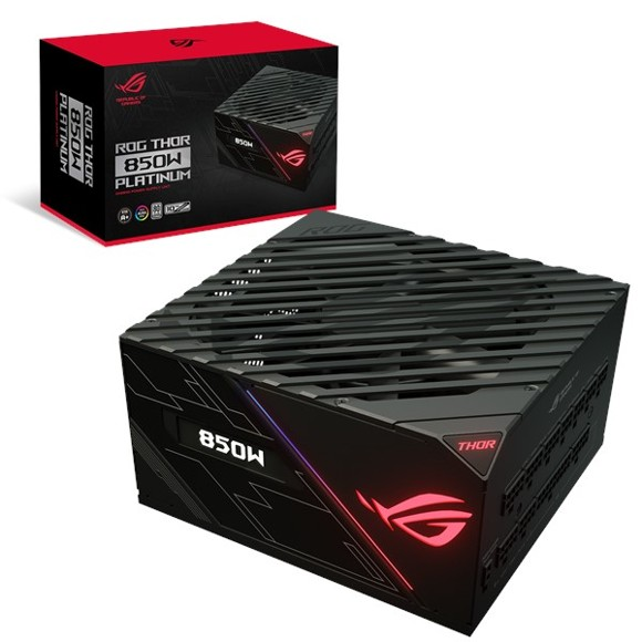 Asus - Rog Thor 850P Platinum Power Supply Unit with Aura Sync