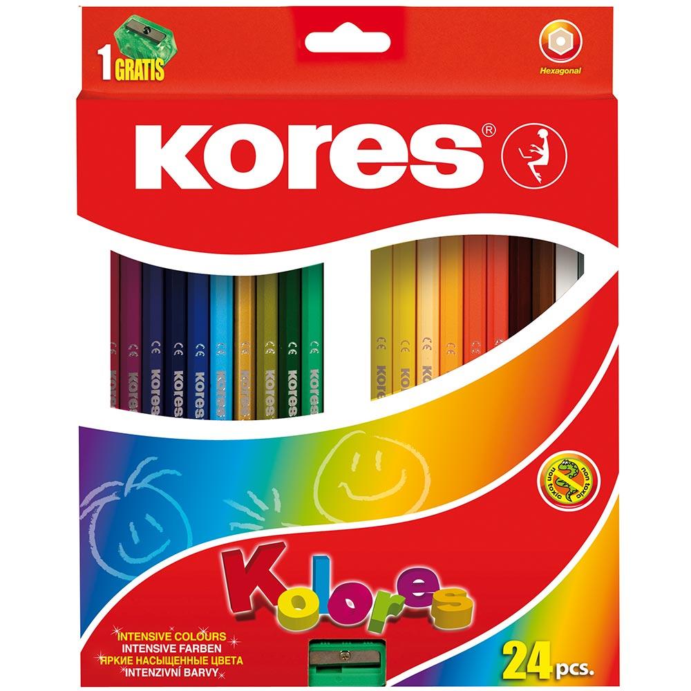 Kores - Kolores - Hexagonal 24 Coloured Pencils (96324)