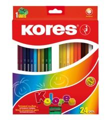 Kores - Kolores - Hexagonal 24 Farveblyanter