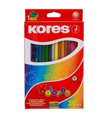 Kores - Kolores - Hexagonal 36 Farveblyanter