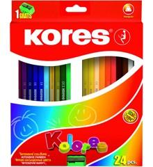 Kores - Kolores - Trekantet 24 Farveblyanter