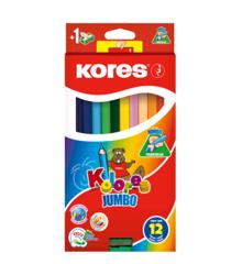 Kores - Kolores - 12 Jumbo Farveblyanter