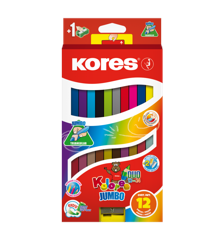 Kores - Kolores - Jumbo Dou 12 Coloured Pencils (93252)