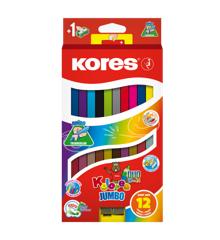Kores - Kolores - Jumbo Dou 12 Farveblyanter