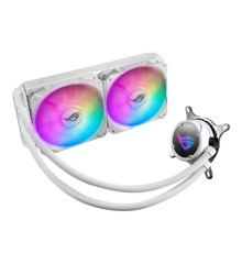 Asus - Rog Strix LC 240 RGB White Edition all-in-one liquid CPU cooler with Aura Sync