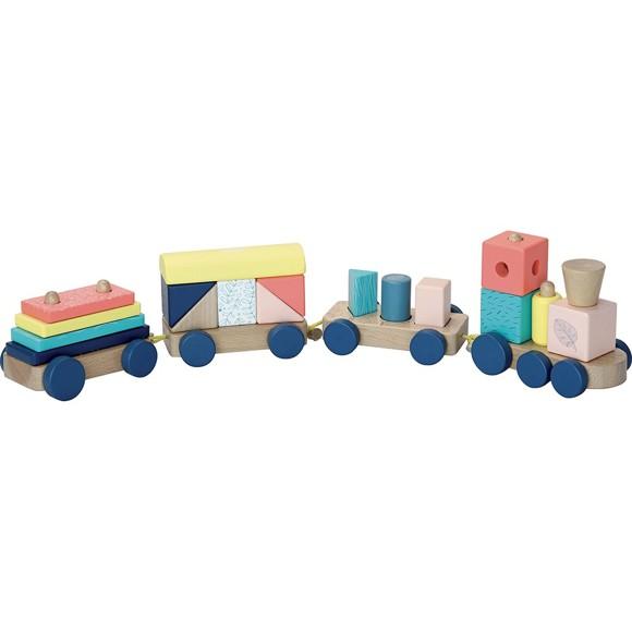 Vilac - Wooden stacking train set (2490)