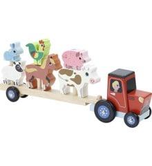 Vilac - Traktor og anhænger med stabledyr (7602)