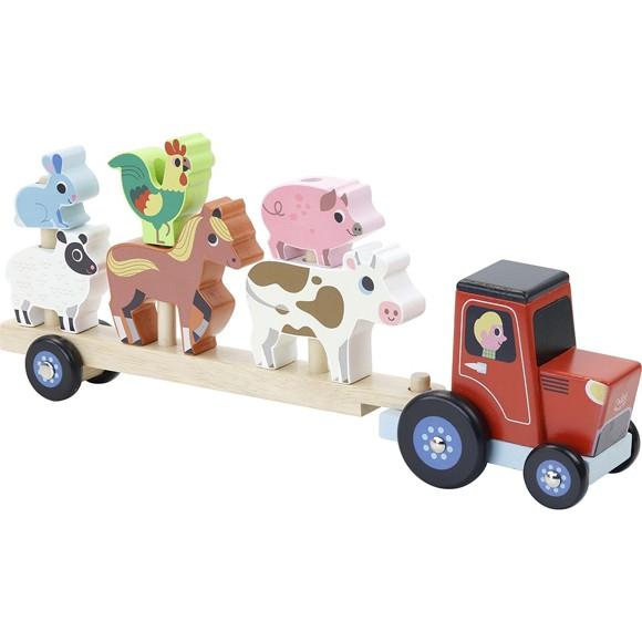 Vilac - Traktor og tilhenger med dyr (7602)