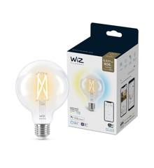 WiZ - Filament  G95 Transparente Kugellampe E27 Einstellbares weißes Licht