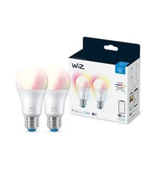 WiZ - Wi-Fi 2x A60 bulb E27 Colour and Tunable White - Smart Home