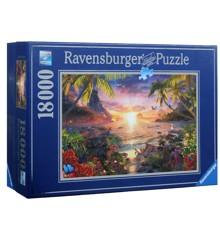 Ravensburger - Puslespil - Solnedgang i paradis- 18000 brikker