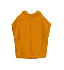 Filibabba - GOTS økologisk bade poncho - Zigzag, Golden mustard