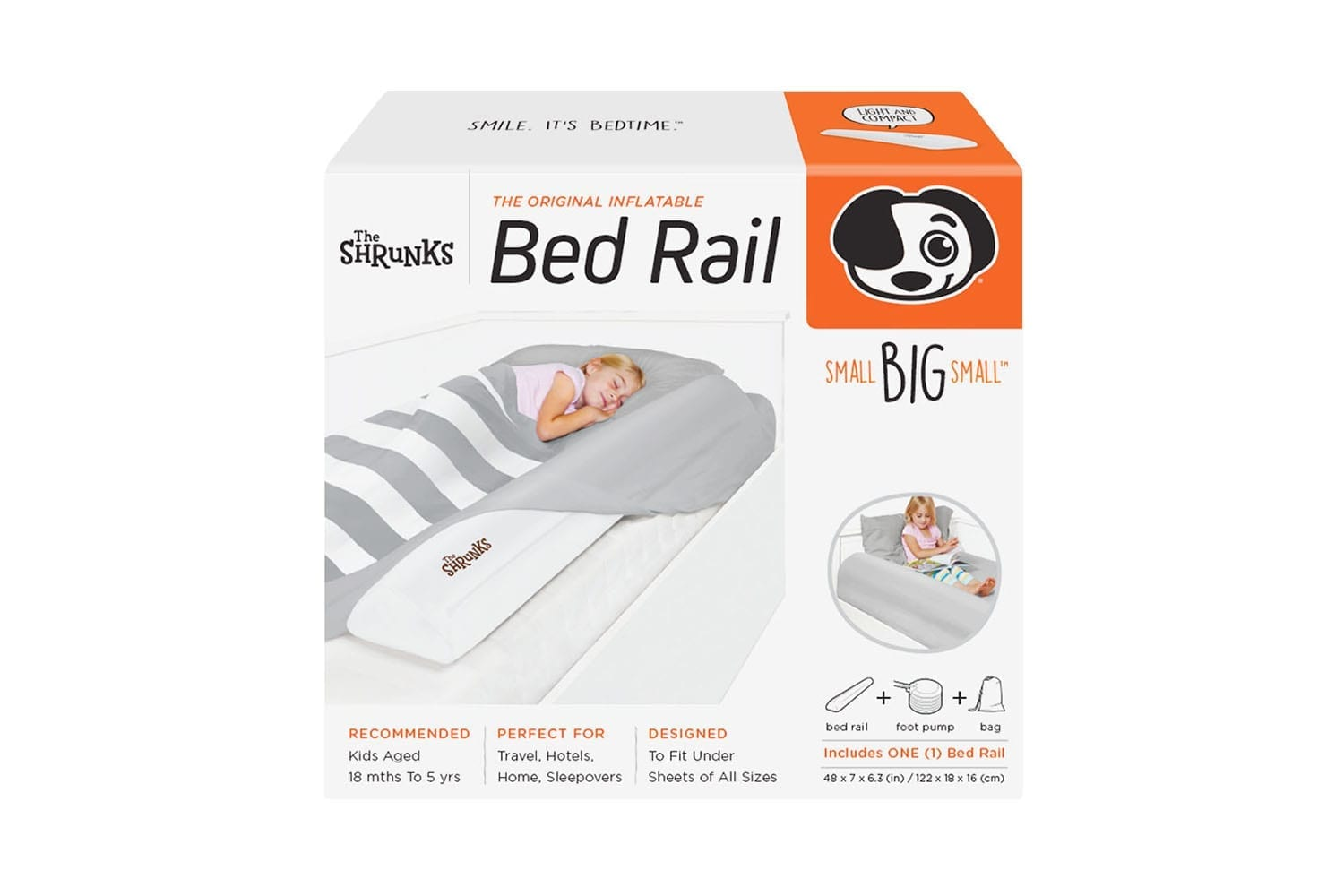 The Shrunks - Inflatable Bed Rail – Double Pack