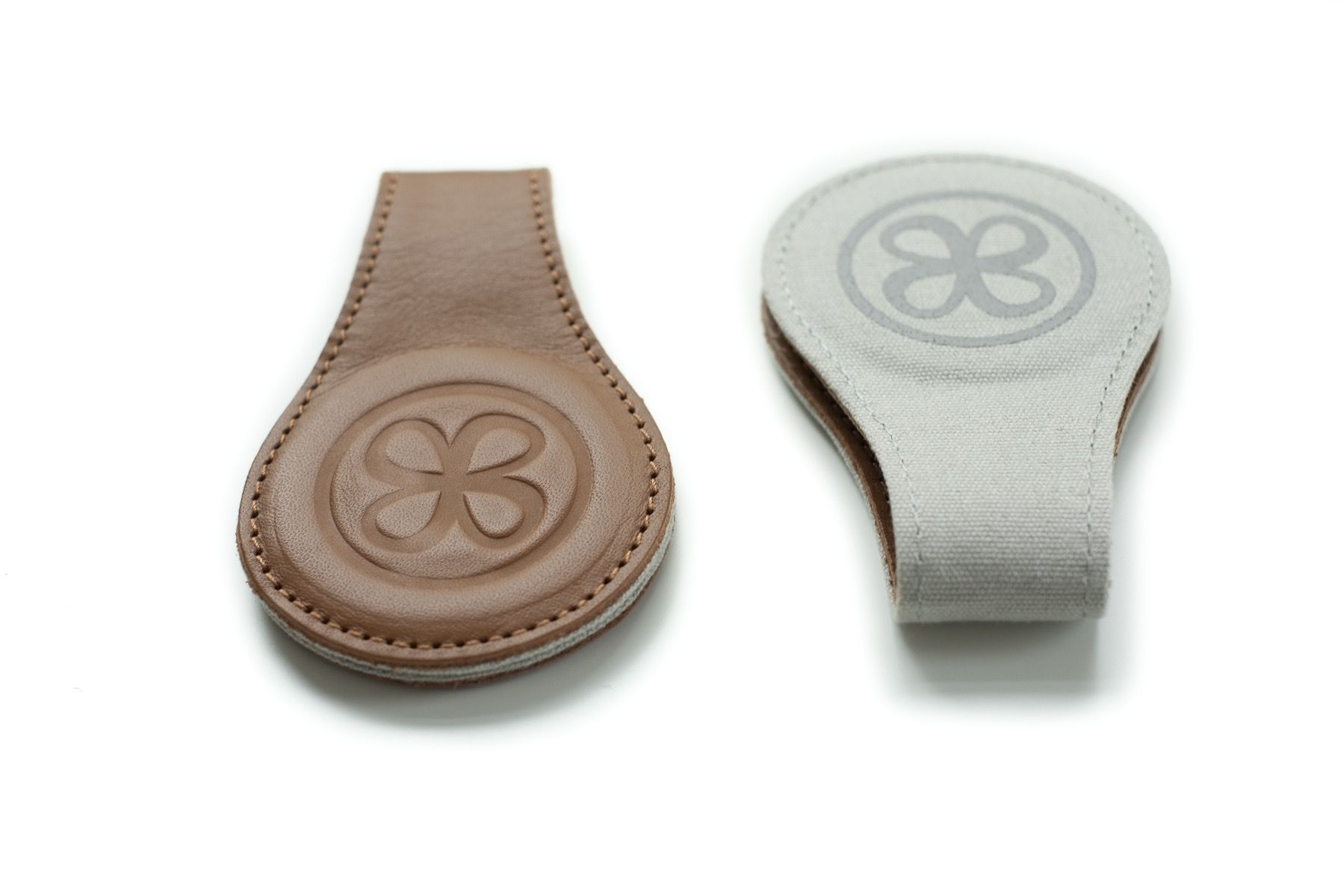Cloby - Magnetic Leather Clips, Brown