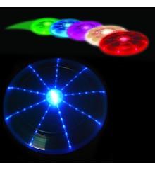 LED Frisbee m. Skiftende Lys