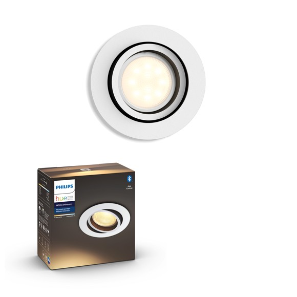 zz Philips Hue - MILLISKIN recessed - White Ambiance - Bluetooth - E
