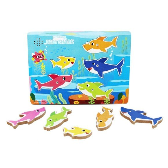Baby Shark - Chunky Wood Puzzle w/music (6054918)
