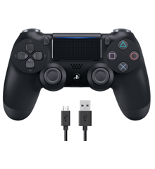 Sony Dualshock 4 Controller v2 - Black  + COOLGEAR - USB to Micro USB 3m Charge Cable