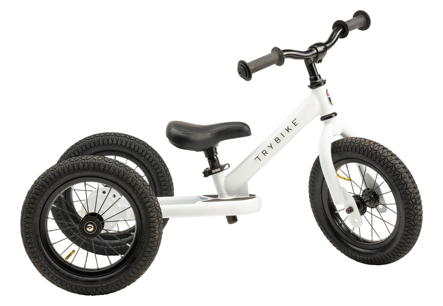 Trybike - 3 hjulet Løbecykel, Hvid | løbecykel og løbehjul