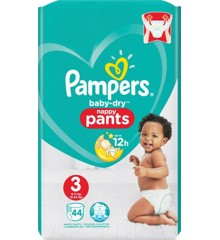 Pampers - 44 Stk Baby Dry Nappy Pants Bleer Størrelse 3