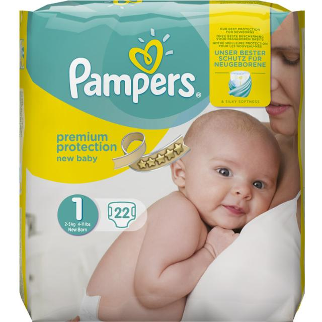 Pampers - 22 Pcs Premium Baby Nappies Size 1