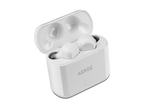 AEROZ - TWS-122 WHITE - True Wireless Stereo øretelefoner med etui til genopladning