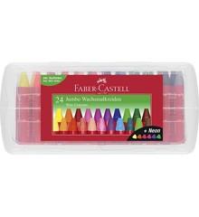Faber-Castell - Jumbo Fedtfarver, 24 stk (120034)