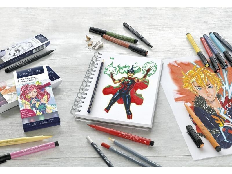 buy fabercastell  comic illustration set 15 pieces