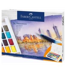 Faber-Castell - Akvarelfarver, 36 brikker i kasse (169736)