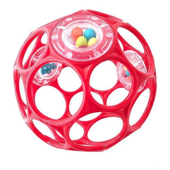Oball - Rattle 10 cm - Red (11487)