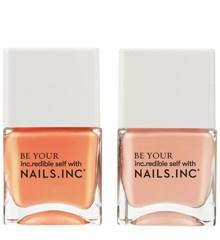 Nails Inc - Neglelak  Kiss My Peach Duo Kit 2x14 ml