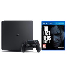 Playstation 4 Slim Console - 500GB + The Last of Us Part II (2) (Nordic)