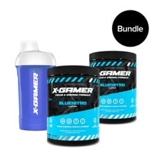 X-GAMER - X-Tubz Bluenitro - 2 Pack & Glacial Shaker - Bundle