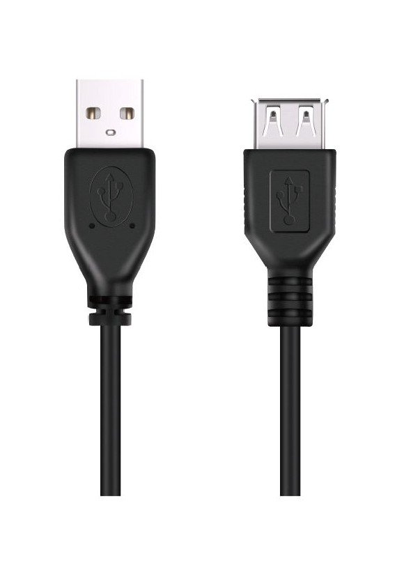 DON ONE CABLES - USBE300 BLACK - USB_FORLENGELSESKABEL - 300CM