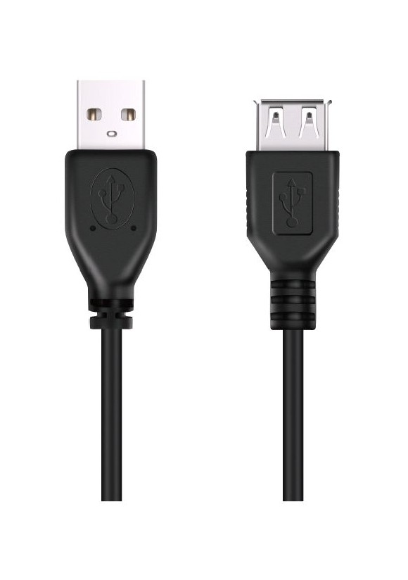 ​​​DON ONE CABLES - USBE300 BLACK - USB A TO USB A EXTENSION CABLE 300CM​​