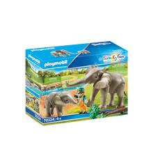 Playmobil - Elefanter i indhegning (70234)