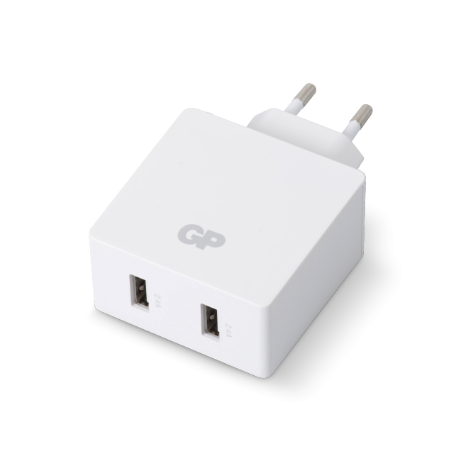 GP - USB Wall Charger - White (2 x USB A) (405133)