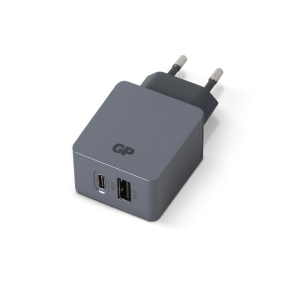 GP - USB Wall Charger - White (1 x USB A + 1 x USB C) (405134)